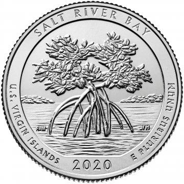 2020-W Salt River Bay National Historic Park Quarter Coin - W Mint - BU