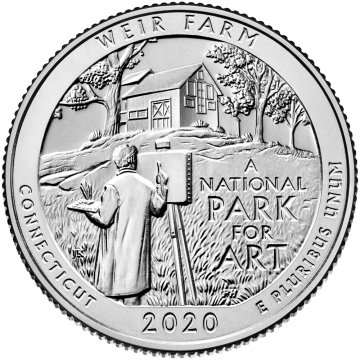 2020 Weir Farm National Historic Site Quarter Coin - S Mint - BU