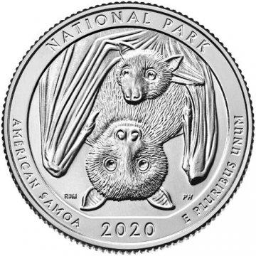 2020 40-Coin American Samoa Quarter Rolls S Mint