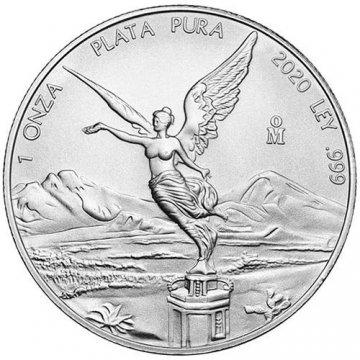 2020 1 oz Mexican Silver Libertad Coin - Gem BU