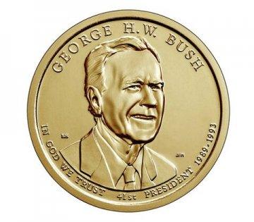 2020 George H.W. Bush Presidential Dollar Coin - P or D Mint