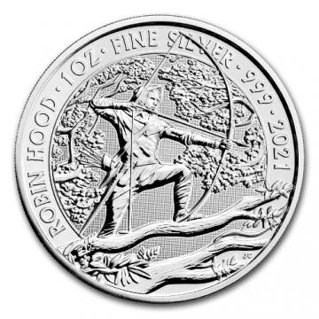 2021 Great Britain 1 oz Silver Myths and Legends - Robin Hood - Gem BU