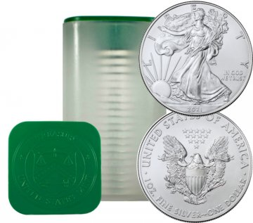 2021 20-Coin 1 oz American Silver Eagle Roll - Never Opened
