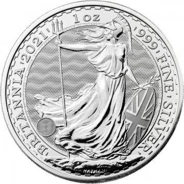 2021 1 oz Great Britain Silver Britannia Coin - Gem BU