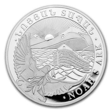 2021 1 oz Armenian Silver Noah's Ark Coin - Gem BU