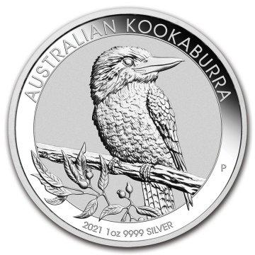 2021 1 oz Australian Silver Kookaburra Coin - Gem BU