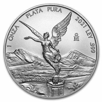 2021 1 oz Mexican Silver Libertad Coin - Gem BU
