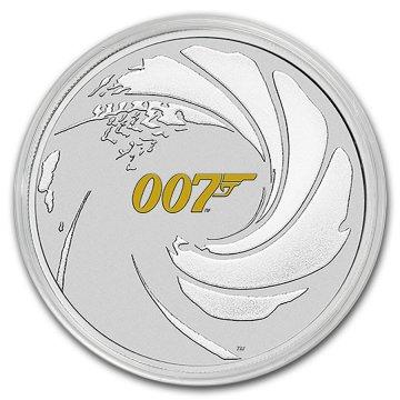 2021 1 oz James Bond 007 Silver Coin - BU