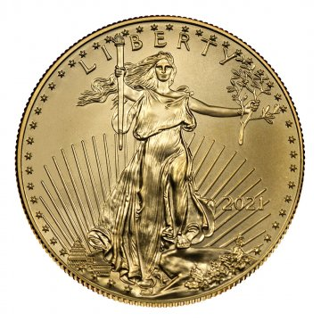 2021 1/4 oz American Gold Eagle Coin - Gem BU