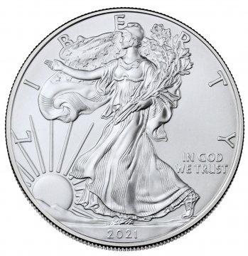2021 1 oz American Silver Eagle Coin - Gem BU