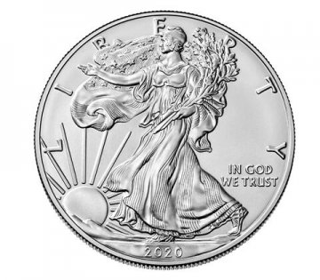 2020-W 1 oz Burnished American Silver Eagle Coin - NGC MS-70 Early Releases