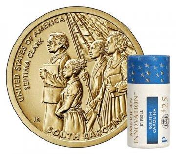2020 South Carolina American Innovation Dollar Coin Rolls - P or D Mint