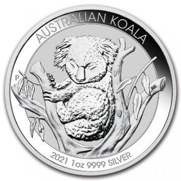 2021 1 oz Australian Silver Koala Coin - Gem BU