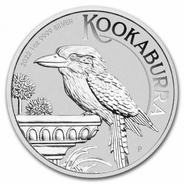 2022 1 oz Australian Silver Kookaburra Coin - Gem BU