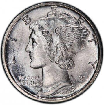 1937-D Mercury Silver Dime Coin - Choice BU