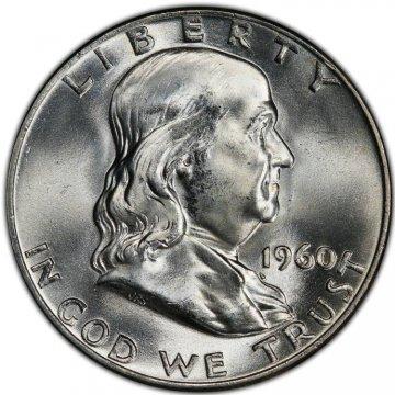 1960-D Franklin Silver Half Dollar Coin - Choice BU