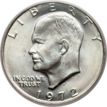 1972 Eisenhower Dollar Coin - Choose Mint Mark - BU