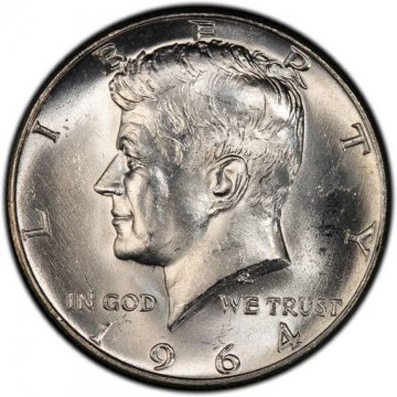 1964-D 90% Silver Kennedy Half Dollar Coin - Choice BU