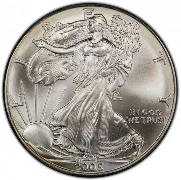2005 1 oz American Silver Eagle Coin - Gem BU