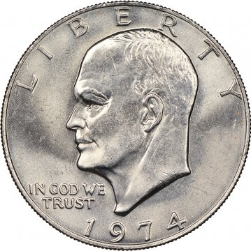 1974 Eisenhower Dollar Coin - Choose Mint Mark - BU