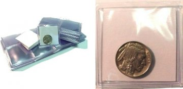 2x2 Vinyl Coin Flips - Pack of 100 - With Inserts
