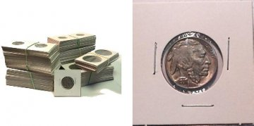 2x2 Staple Type Coin Holders - All Sizes Available