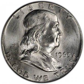 1948-1963 20-Coin 90% Silver Franklin Half Dollar Roll - BU