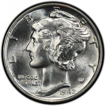 1942 Mercury Silver Dime Coin - Choice BU