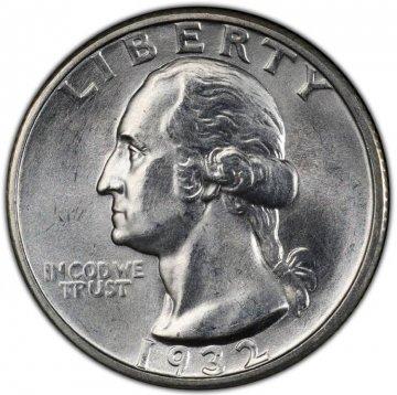 1932-S Washington Silver Quarter Coin - Choice BU