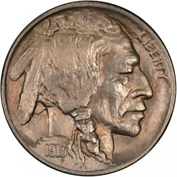 1913-D Buffalo Nickel Coin - Type 2 - Choice BU