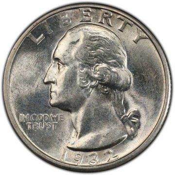 1932-D Washington Silver Quarter Coin - Choice BU