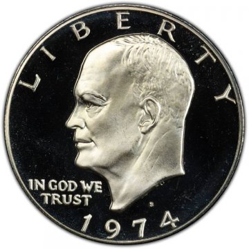1974-S Eisenhower 40% Silver Dollar Coin - Proof