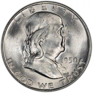 1950-D Franklin Silver Half Dollar Coin - Choice BU