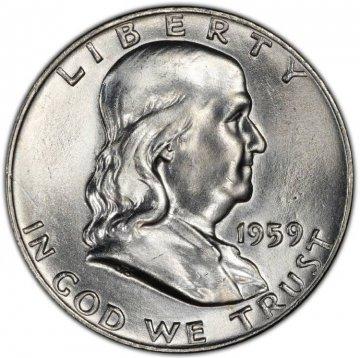 1959 Franklin Silver Half Dollar Coin - Choice BU