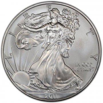2011 1 oz American Silver Eagle Coin - Gem BU