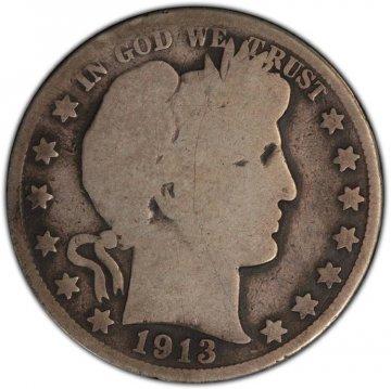 1892-1915 20-Coin 90% Silver Barber Half Dollar Roll - Avg. Circ.