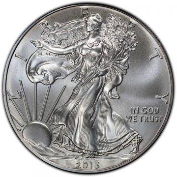 2013 1 oz American Silver Eagle Coin - Gem BU