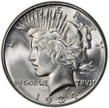 1934-D Peace Silver Dollar Coin - Brilliant Uncirculated (BU)
