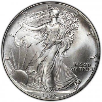 1992 1 oz American Silver Eagle Coin - Gem BU