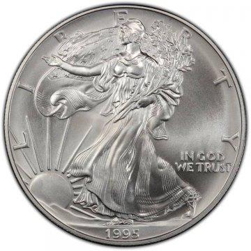 1995 1 oz American Silver Eagle Coin - Gem BU