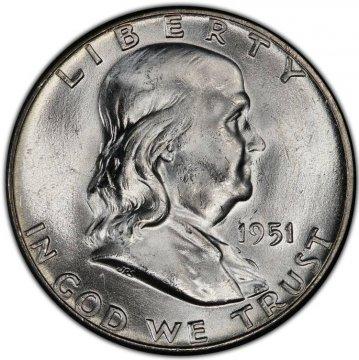 1951 Franklin Silver Half Dollar Coin - Choice BU