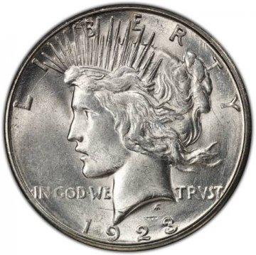 1923-S Peace Silver Dollar Coin - Brilliant Uncirculated (BU)