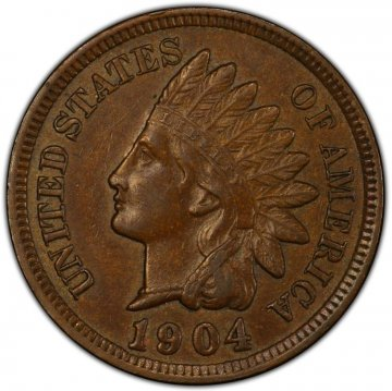 1898-1909 Indian Head Cent Coins - Extremely Fine / About Uncirculated - 5 Different Dates