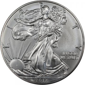 2017 1 oz American Silver Eagle Coin - Gem BU