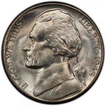 1945-S Jefferson War Nickel Silver Coin - Choice Uncirculated