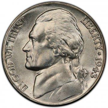 1943-P Jefferson War Nickel Silver Coin - Choice Uncirculated