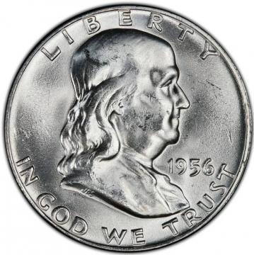 1956 Franklin Silver Half Dollar Coin - Choice BU