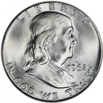 1962 Franklin Silver Half Dollar Coin - Choice BU