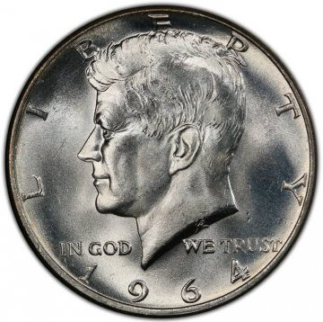 1964 90% Silver Kennedy Half Dollar Coin - Choice BU
