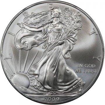 2009 1 oz American Silver Eagle Coin - Gem BU